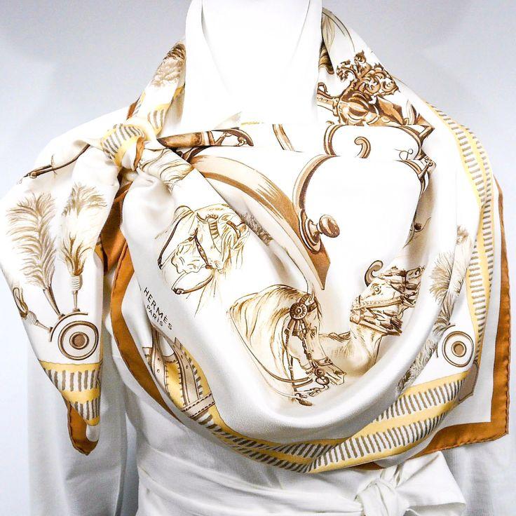 Authentic VTG Hermes Silk Scarf Plaques à Sabler RARE – Carre de Paris