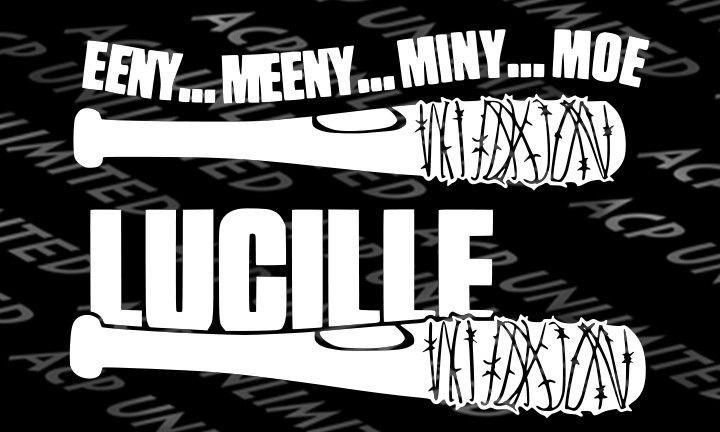 The Walking Dead Lucille Bat EENY MEENY MINY MOE Decal Sticker auto wall Negan #Unbranded