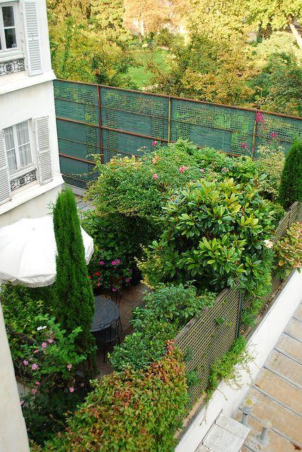 Beautiful parisian roof garden