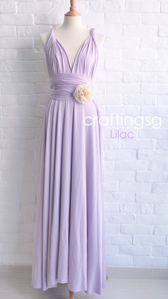 Bridesmaid Dress Lilac Maxi Floor Length Infinity Dress