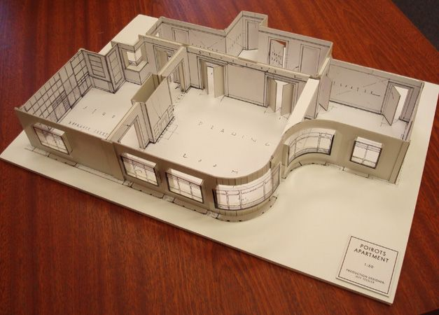 Agatha Christie Poirot Television Set Model