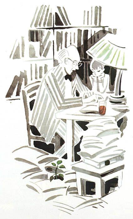 Музей рисунка - Май Петрович Митурич (1925-2008гг). Иллюстрации.