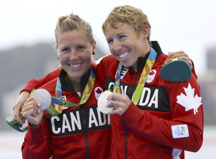 Canada takes silver in lightweight women's double sculls: Feschuk - The magic of the partnership between Patricia Obee and Lindsay Jennerich revealed itself Friday in the lonely, windswept middle of the Rio Olympic rowing lagoon - Lindsay Jennerich and Patricia Obee of Victoria show off their silver medals from the lightweight women's double sculls final at the Rio Olympics. (Photo Murad Sezer / Reuters)