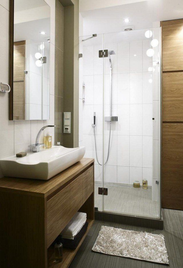 37 best Salle de bain images on Pinterest Bathroom ideas, Bathroom - amenagement de petite salle de bain