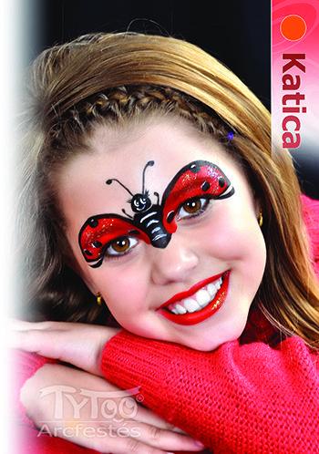 Katica arcfestés lépésről lépésre #katica #katicabogar #arcfestés #arcfesteslepesrollepesre #tytoo