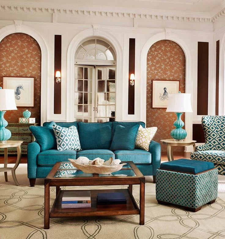 Teal Living Rooms Share