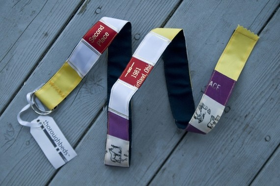 Belt made of horse show ribbons!