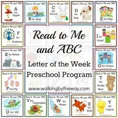Free Read to Me & ABC Preschool Program has great ideas for crafts for each letter and plans for learning each letter
