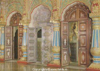 The doors of the Amba Vilas palace at Mysore with ivory inlay