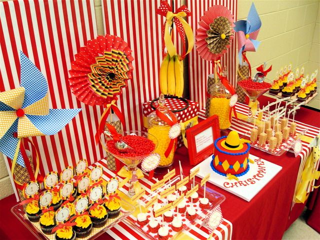 Curious George dessert table