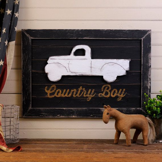PickUp Truck Art Wooden Country Boy  by SlippinSouthern, $93.00