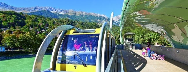 Zip from Innsbruck's Old Town to the top of the Nordkette mountain range via funicular and cable car designed by star architect Zaha Hadid © Innsbruck Tourismus #feelaustria