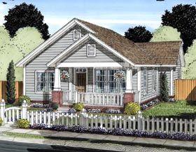 Cottage   Craftsman   Traditional   House Plan 61429