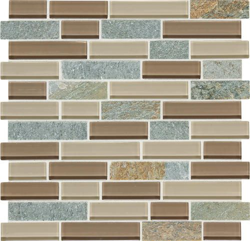 Daltile phase mosaics stone and glass wall tile 1 random for Menards backsplash
