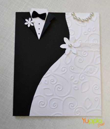 Per la stagione degli sposi, una card classica che non passa mai di moda! #wedding #craftinspiration #yupplacraft #craftidea