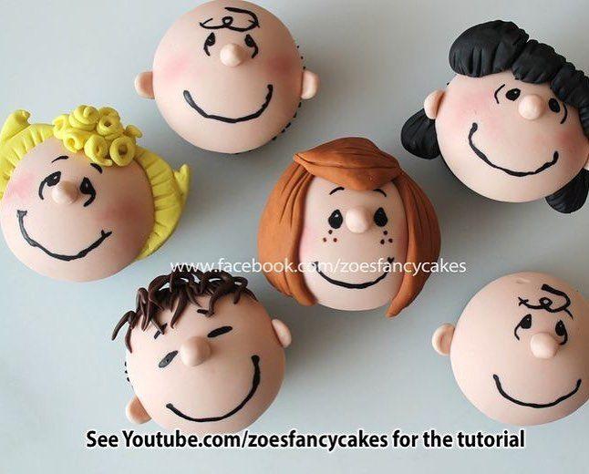 "@cassianedorigon no Instagram: ""Simplesmente perfeitos!!!! Por Zoe Fancy Cakes #ideiasdebolosefestas #inspiration #inspiracao #snoopy #snoopyparty #cupcakesdecorados…"""