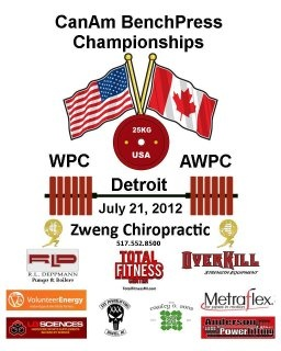 As home to XXXPowerlifting we here at Total Fitness Center are proud to Sponsor The CanAm BenchPress Championships!