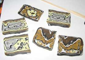 Мокуме Гане - желто-коричневый узор