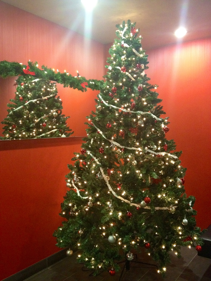 More photos In the spirit of Christmas: 6Foot Christmas tree! Isn't this lovely with the red tone?