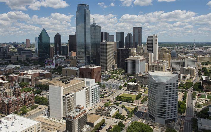 壁紙をダウンロードする ダラス, 建物, 夏, 米, テキサス州, 米国