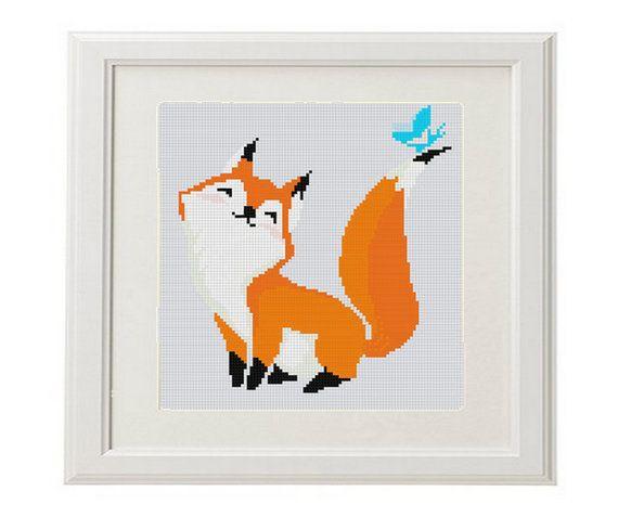 Fox Cross Stitch Pattern fox counted cross by AnimalsCrossStitch