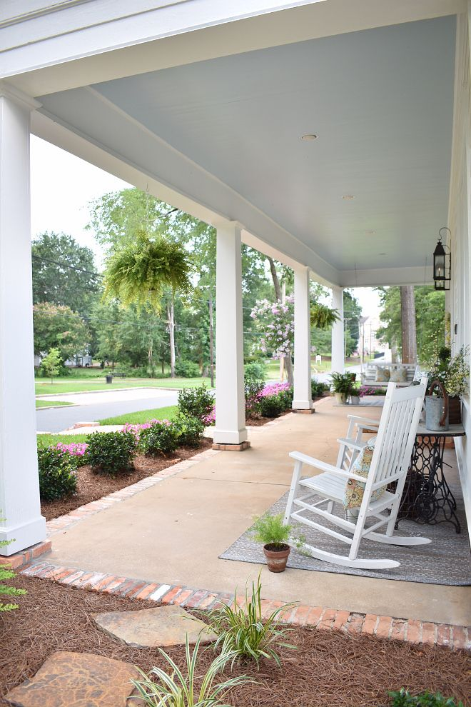 Beautiful Homes Of Instagram Farmhouse Cottage Home Bunch Interior Design Ideas Southern Cottage Porch Remodel Haint Blue Porch Ceiling