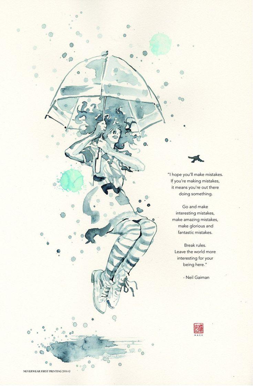 David Mack Illustrates Neil Gaiman's Advice On