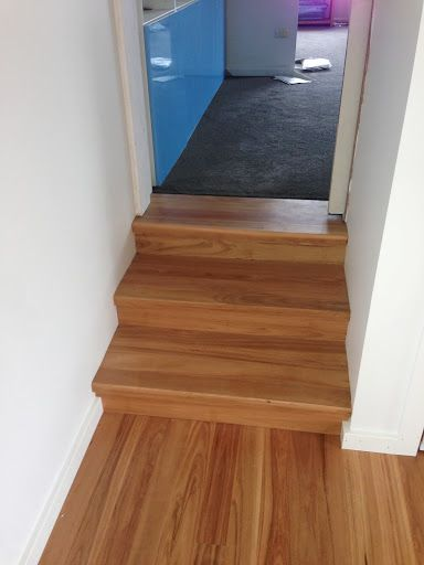 Blackbutt timber flooring and staircase