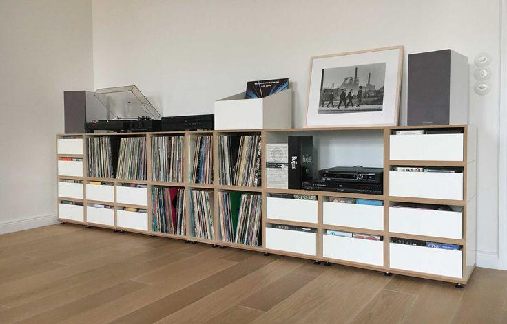 Die besten 25 vinyl plattensammlung ideen auf pinterest vinyl plattenregal schallplatten - Schallplatten wand ...