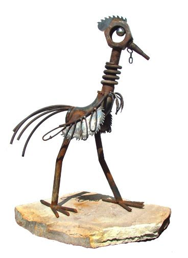 """Cock of the Walk by John V. Wilhelm """"found object"""" sculpture art."""