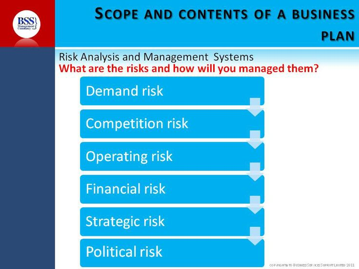 Managing risks is part of the process of writing a business plan that funders will be interested in. Here is an image of the steps to do so.