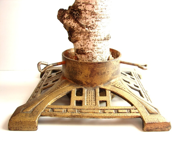 Antique Christmas Tree Stand Decorations : Best images about vintage metal tree stands on