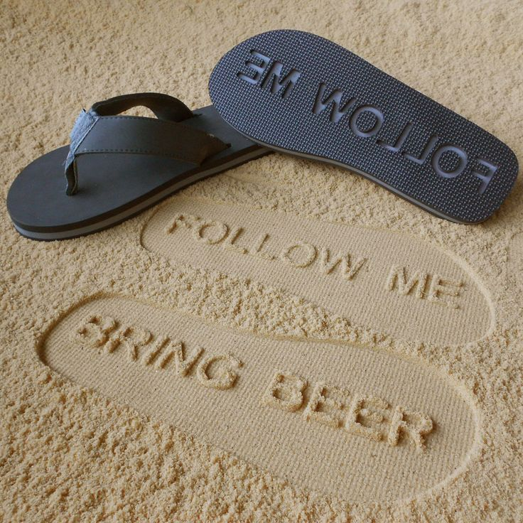 FOLLOW ME. BRING BEER. I need these for the next time I make it to the beach!!