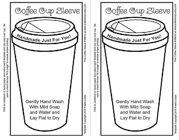 template for coffee cup sleeve cozy google search coffee pinterest coffee cup sleeves. Black Bedroom Furniture Sets. Home Design Ideas