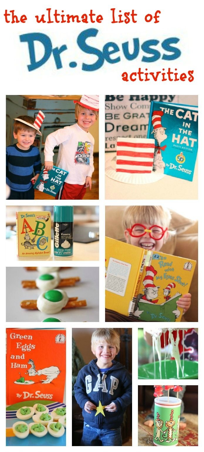 The Ultimate List of Dr. Seuss Activities!  So many fun ideas!