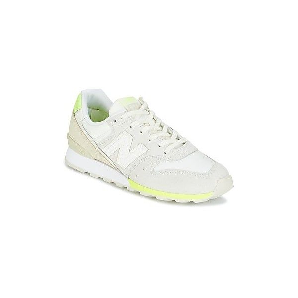 New Balance WR996 Shoes (Trainers) (405 ILS) ❤ liked on Polyvore featuring shoes, sneakers, trainers, white, women, leather footwear, real leather shoes, new balance footwear, white sneakers and white trainers