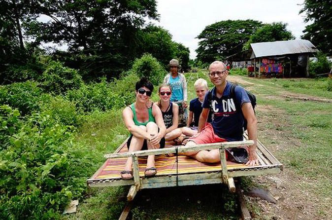 Overnight Battambang Tour from Siem Reap Including Driver The tour takes two days and one night. It is a good opportunity to see another province and get to know Cambodia better. The Battambang province is known for its production of rice as well as other local industries. This tour takes you on a fun and adventurous bamboo train ride along an old railway track where you will see very nice rice fields, local villages, traditional Khmer houses and so on. Also you will visit a ...