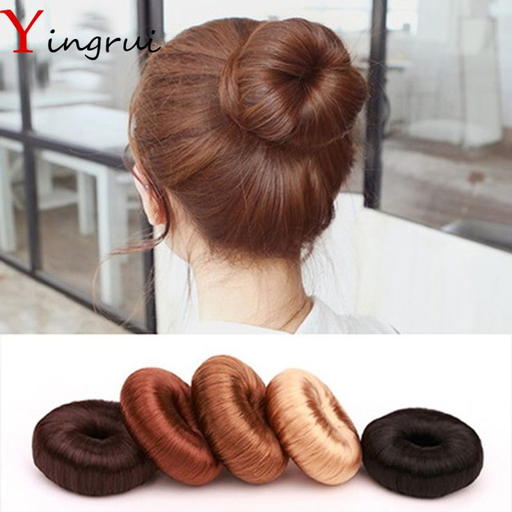DIY Pure Hairpiece Hair Bun Coil Updo Maker Former Twist Tool Hair Donut Make Your Hair More Stylish Grilfriend Gifts
