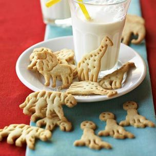Animal Cracker Cookies  2 1/2 cups all-purpose flour  1 tsp. baking powder  1/2 tsp. salt  1/8 tsp. freshly grated nutmeg  1/8 tsp. mace  12 Tbs. (1 1/2 sticks) unsalted butter, at room temperature  1 cup sugar  1 egg  1 tsp. vanilla extract