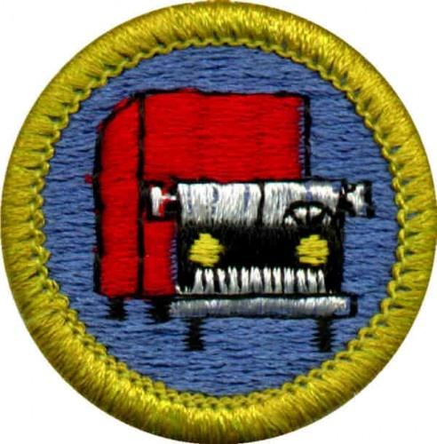 truck transportation merit badge for boy scouts merit badges pinterest scouts badges and boys. Black Bedroom Furniture Sets. Home Design Ideas