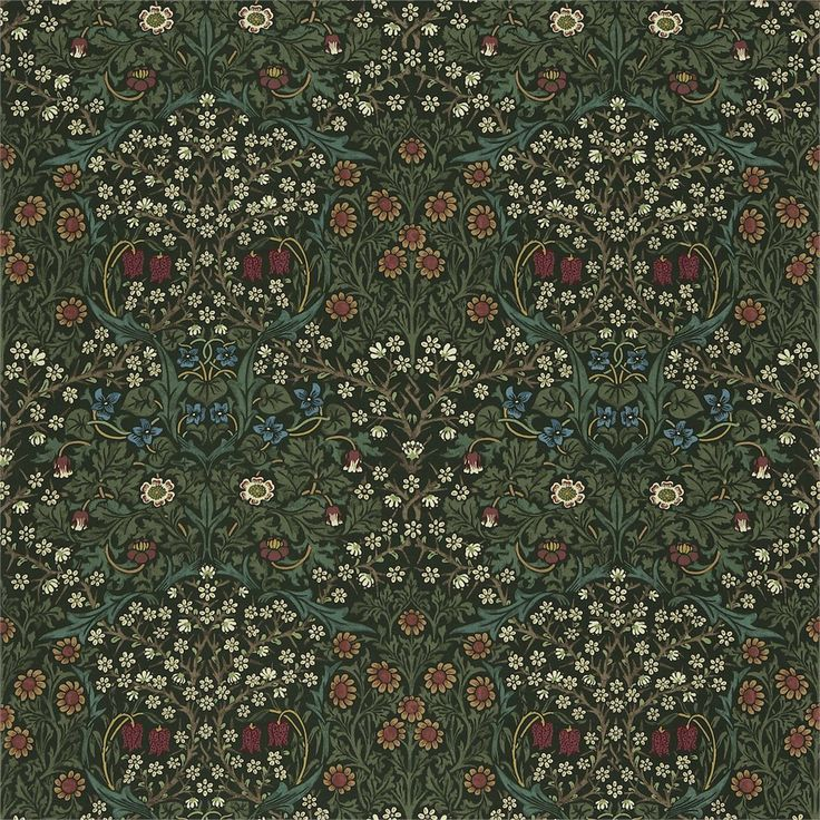 Style Library - The Premier Destination for Stylish and Quality British Design | Products | Blackthorn Fabric (DMCR226442) | The Craftsman Fabrics | By Morris & Co.