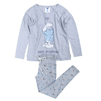 The Smurfs long cotton pyjama
