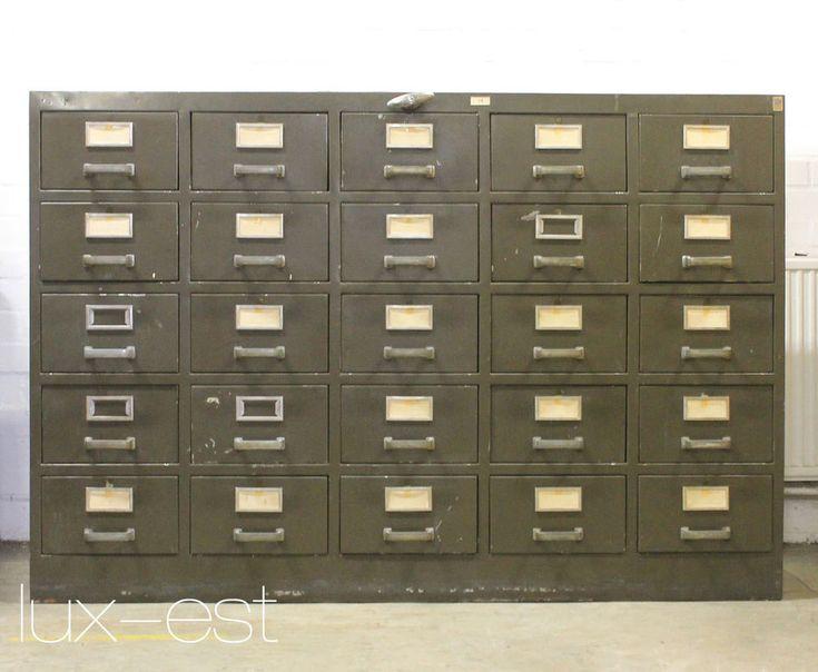 Italia Metall Buero Akten Schrank Industrie Design Archiv Files Metal Cabinet Buro Schreibwaren Buromobel Schrank Metallschranke Schrank Schrank Regale