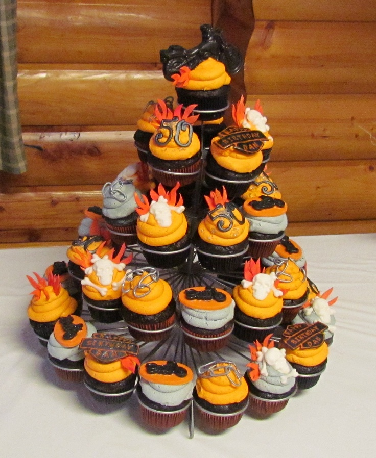 35 best Harley Davidson Cupcakes images on Pinterest Cupcake ideas