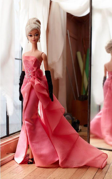 *2016 Gold label Glam gown Barbie doll 1 #DGW58