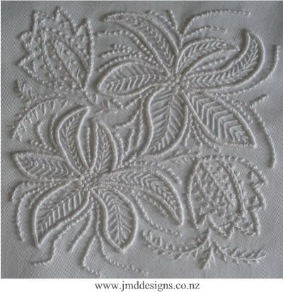 JMD Designs -JMDWW9 Will - Whitework Needlework, Quilting and Applique