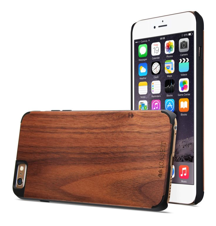 Amazon.com: iPhone 6 Plus Case, Walnut / Black - iCASEIT [Non-Slip] [Exact-Fit] Unique iPhone 6 Plus Case Slim [Fit Series] [Thin Fit] Premium Non Slip for iPhone 6 Plus (5.5 Display) - Walnut / Black: Cell Phones & Accessories