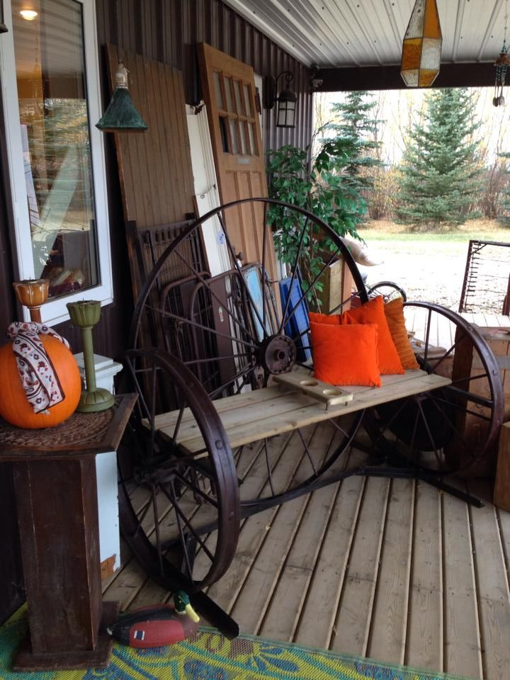 Gorgeous benches at Sisters Roadside Treasures!