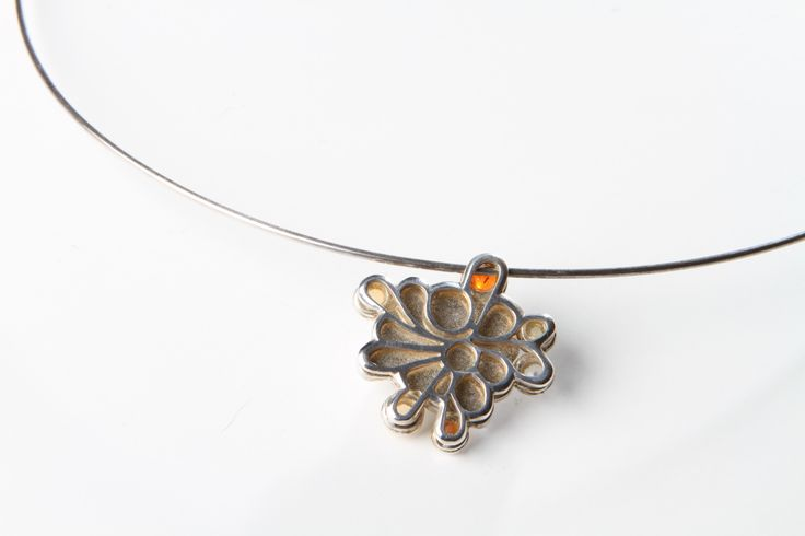 """""""Nostalgy"""" Silver and fireopal by Rikke Borch"""