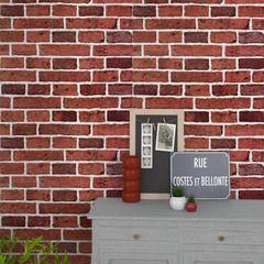 Apportez de l'authenticité à votre pièce avec ce papier peint BRIQUES !  Sa couleur terracotta réchauffera votre intérieur.  Cette imitation reproduit avec fidélité un mur de briques pour un effet trompe-l'oeil garantit !  Donnez de la personnalité et du caractère à vos murs !